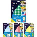 Agipa Etichete rotunde 15mm, 96 buc. /A5, Agipa rosu (AG114311)