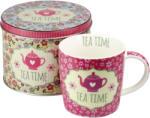 Sinas Set ceai: Cana + Cutie metalica (roz antic) 300ml