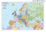 Stiefel Európa országai angol nyelvű térképe, falitérkép (447428T-XL)