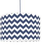 YoungDeco Textil függőlámpa - cikkcak - kék