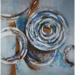 Mendola Tablou pictat manual Aquamarine, 100x100cm
