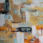 Mendola Tablou pictat manual Fusion, dimensiunea 40x40cm