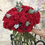 ImodFlowers Buchet de 35 trandafiri rosii