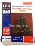 Home Ghirlandă cu LED-uri micro, 50 microLED-uri alb cald, Home ML 50/WW