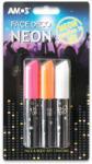 Amos RFEA077 sötétben világító arcfesték - neon színű (3 db/csomag) (RFEA077)
