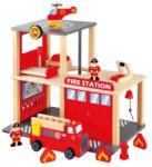 Bino Set Statie Pompieri cu Masinuta si Elicopter (bin_84083) - jucarii-online