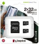 Kingston microSDHC Canvas Select Plus 2x32GB SDCS2/32GB-2P1A