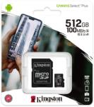 Kingston microSDXC Canvas Select Plus 512GB A1/C10 SDCS2/512GB