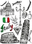 A&G Co maxi autocolant Italia Decoratiune camera copii