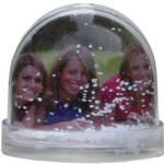 Glob de zăpadă clasic, cu fulgi de nea