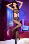 CHILIROSE Bodystocking Sexy Cu Dantela Catsuit, Negru S/M - pasiune - 97,31 RON