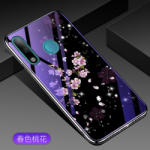 Touch of luxury Husa Iphone 11 pro max silicon cu sticla floare roz