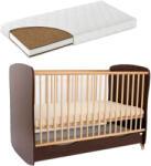 Casa Bebelusului Patut lemn Razvan venghe 120X60 cm cu saltea 10 cm Komfort, PAK-Razvan-3