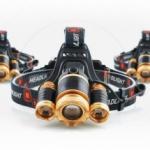 Led Headlight Водоустойчив професионален челник с три силни фара и zoom функция FL30