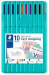 STAEDTLER Set 10 instrumente de scris STAEDTLER Triplus Card Designing