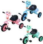 Tricicleta cu pedale pentru copii, lumini si sunete - Broscuta zambitoare (S-335)