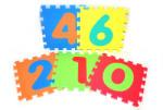 WIKY Soft puzzle blochează cifre 30x30cm (WKW118620)