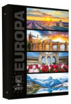 Metallic Let's Travel Gyűrűskönyv A/4 2 Gyűrűs Europa Minta 40 mm 7-22620A