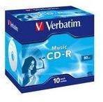"""Verbatim BLANK CD-R Verbatim MUSIC 80MIN JC """"43365"""" (pret la 1 buc. """"43364"""" CD - 10buc. / cutie) (43365)"""