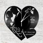 Szív alakú falióra esküvőre, házassági évfordulóra