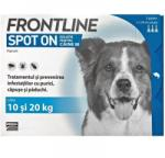 Merial Pipete Antiparazitare Caini, Frontline Spot-On Dog M (10-20 kg) x 3 pipete