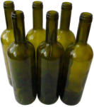 DURAMAT Стъклена бутилка 750 мл, зелена - комплект от 6 броя