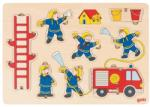 Goki Дървен пъзел Goki - Пожарна команда, стоящ пъзел (57471)