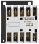 Lovato Contactor tripolar, Curent lucru (AC3) = 9A, DC bobina, 125VDC, 1NO Contact auxiliar, FASTON TERMINALS (11BGF0910D125)