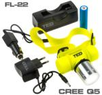 TED Electric Lanterna cap subacvatica TED Electric 1 LED CREE 10W include 1 acumulator 18650 Li-Ion incarcator retea si auto FL-22TED
