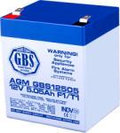 TED Electric Acumulator 12V 5.05A AGM VRLA TED pentru sisteme de securitate F1 GBS (AGM GBS12505)