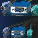 Roline Cable KVM 1xHD15M/F, 2xPS2M/M, 6m, Roline 11.01. 5466