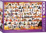 EUROGRAPHICS Пъзел Eurographics от 1000 части - Хелоуински котки и кучета (60005416)