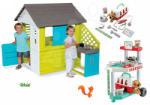 Smoby Set căsuţă Pretty Blue Smoby cu bucătărie de vară+clinică veterinară cu căţeluş (SM810711-13) Casuta pentru copii
