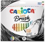 Carioca Carioca, varf flexibil - 1-6mm (tip pensula), 20 culori/cutie, CARIOCA Super Brush (CA-42968) - birotica-asp