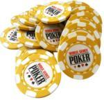 MagazinulDeSah Jeton Poker WSOP Galben, clay 10 grame