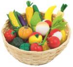 Goki Fructe și legume din lemn într-un coș de 21 buc Bucatarie copii