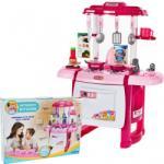 MalPlay Bucatarie pentru copii MalPlay cu sunete, lumini , cuptor, chiuveta, accesorii, Roz, 62 cm Bucatarie copii