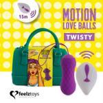 FeelzToys Вибриращи вагинални топчета с въртеливо движение Twisty