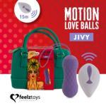 FeelzToys Вибриращи вагинални топчета с движение нагоре-нодолу Jivy