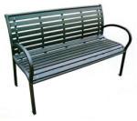Strend Pro Banca de gradina, plastic, structura metal, 120x80x40 cm, Kimbra (802031)