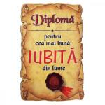 AleXer Magnet Diploma pentru cea mai buna IUBITA din lume, lemn