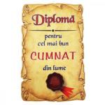 AleXer Magnet Diploma pentru cel mai bun CUMNAT din lume, lemn (CDT-ES-4604-11)