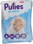 Ficosota PUFIES sensitive бебешки пелени, номер 6, 13+кг, 44 броя