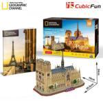 National Geographic 3D пъзел 128 части National Geographic CubicFun - Paris Notre Dame De Paris