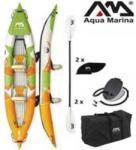 Zonex Aqua Marina erős strapabíró anyagú felfújható 412cm hosszú kétszemélyes kajak szett
