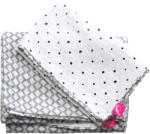 MOTHERHOOD Lenjerie muselină pentru paturi Pătuț pre-spălat gri Classics din 2 piese (AGS098138) Lenjerii de pat bebelusi, patura bebelusi