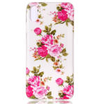 Tvc-Mall Husa iPhone XR 6.1'' Luminous Patterned Blooming Peonies