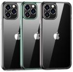 USAMS Husa Cover TPU Usams Kryt Pro Minni pentru iPhone 12/12 Pro Transparent cu Rama Verde