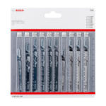Bosch 10 részes dekopír fűrészlap készlet fához (2607011169) - hardtools