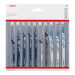 Bosch 10 részes dekopír fűrészlap készlet fához és fémhez (2607011170) - hardtools